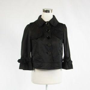 Black cotton blend GUESS JEANS blazer jacket Small